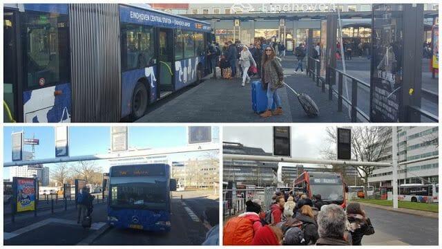 parada del bus 400 en Eindhoven