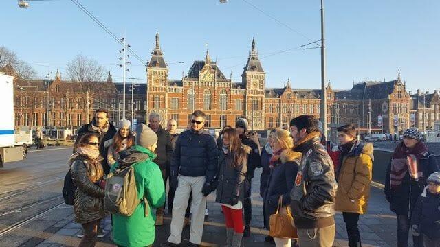 grupo visita guiada por Amsterdam