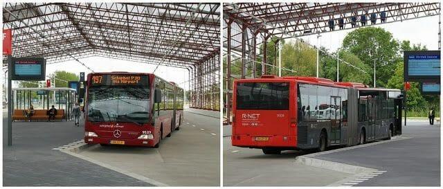 Los autobuses nº 197 (airport express) y 370 en schiphol