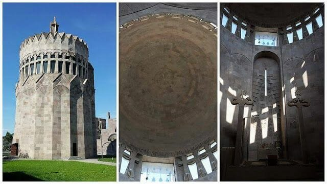iglesia moderna entrada de Echmiadzin