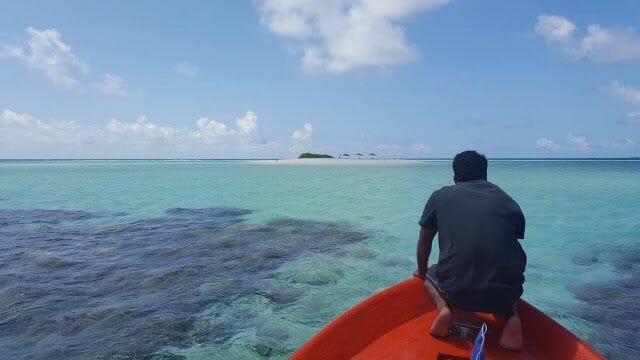 isla Odagalla en barco