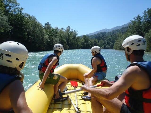 barca del rafting Eslovenia