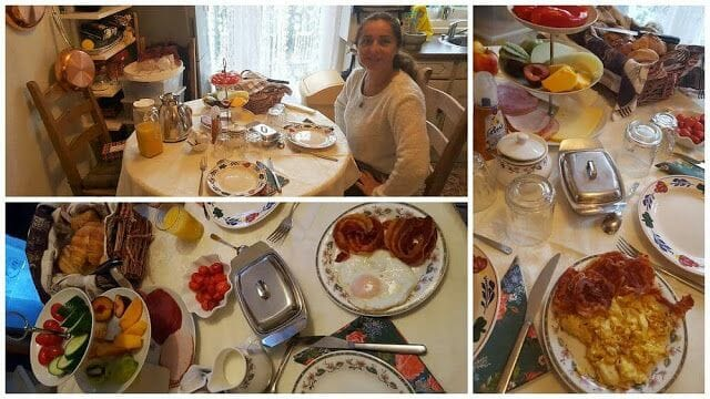 desayuno en bed and breakfast