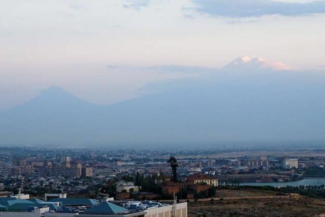 monte Ararat desde erevan