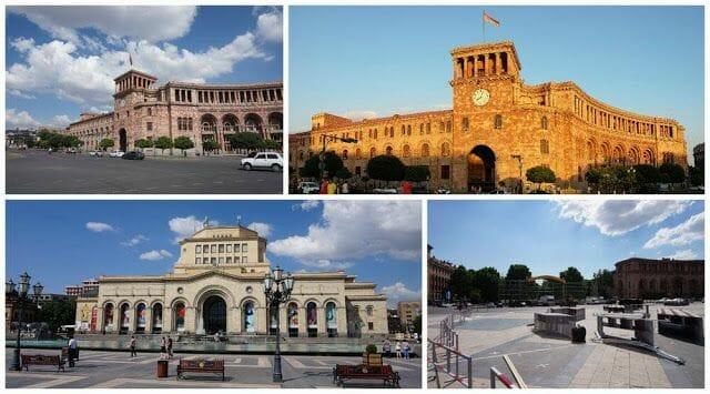 plaza de la República de Ereván
