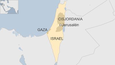 mapa israel con territorios palestinos