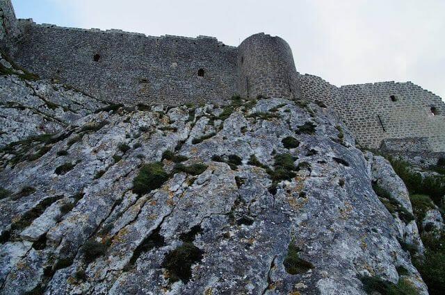murallas del castillo de Peyrepertuse