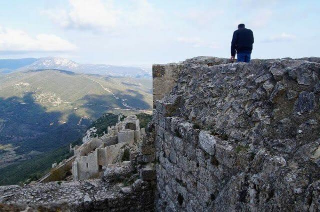 vistas desde los castillos de la ruta de los cátaros