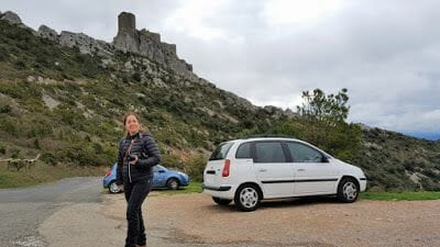 castillo de queribus parking