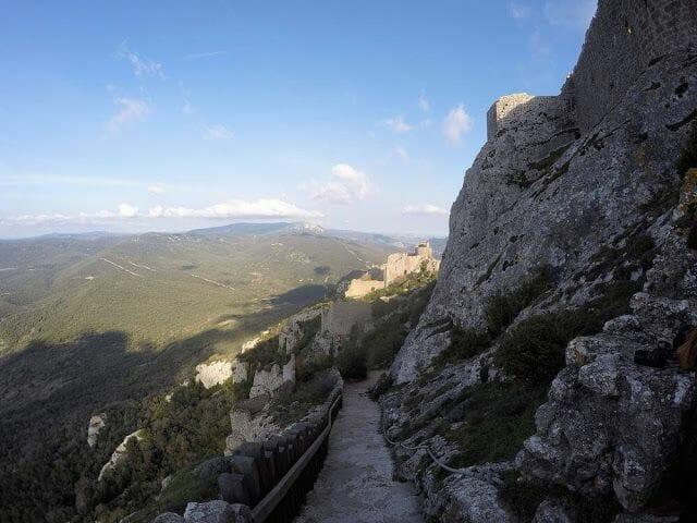 escalera del rey castillo de Peyrepertuse