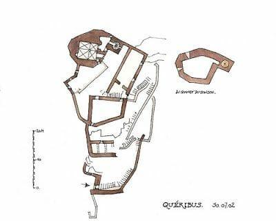 plano castillo de Quéribus