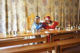 Comida al restaurante La Rôtisserie Médiévale