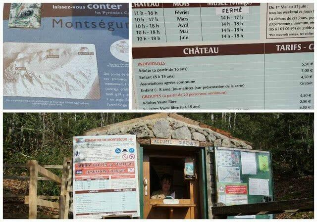 castillo de Montsegur precios y horarios
