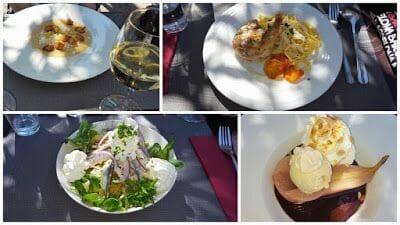 Comida al restaurante La Côte félée