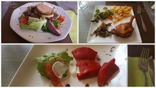 Comida al restaurante « Le Jeu de l'Oie »