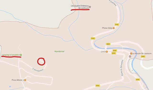 mapa lastours localización y ubicación