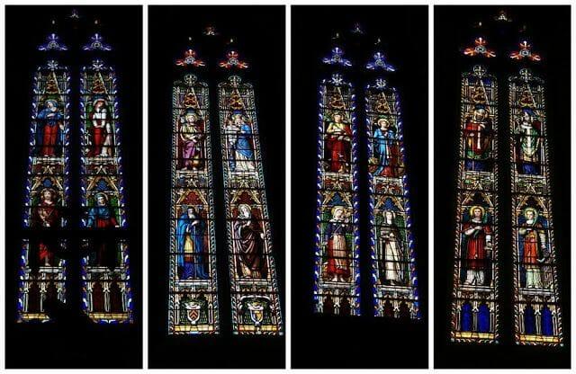 vidrieras iglesia qué ver en Mirepoix