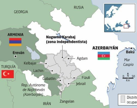 Dónde está Nagorno Karabaj