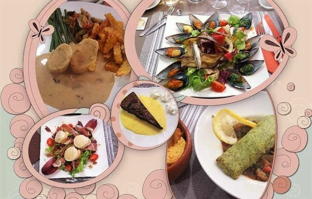 Restaurante Le Catharome platos
