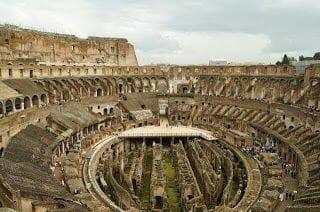 visitar coliseo romano TERCER ANILLO Y SUBTERRÁNEO