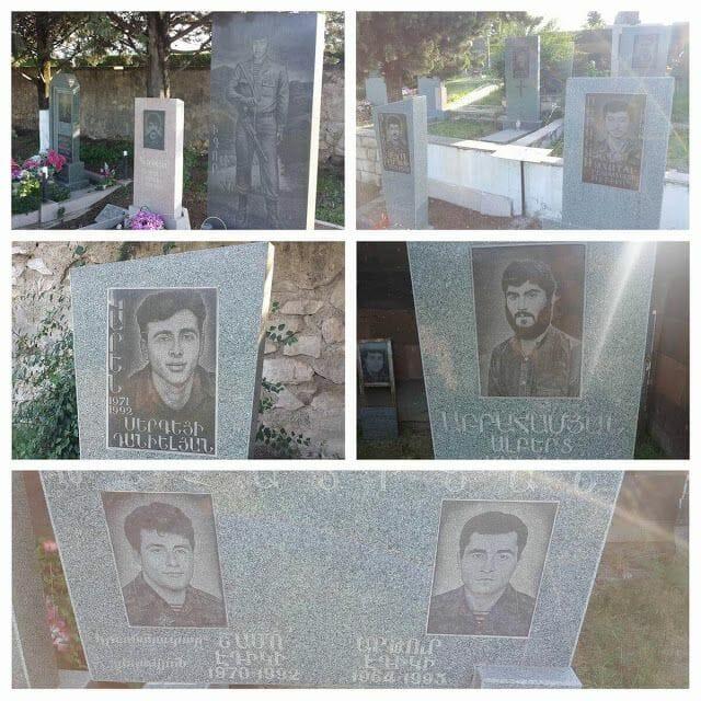 Tumbas del Memorial de Stepanakert - viaje a Nagorno Karabaj