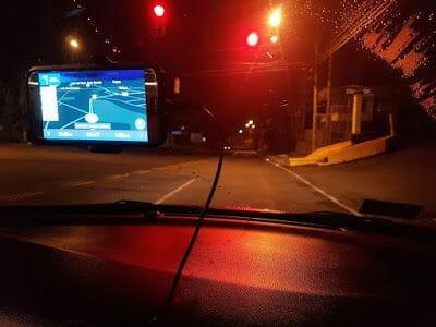 conducir de noche por Costa Rica