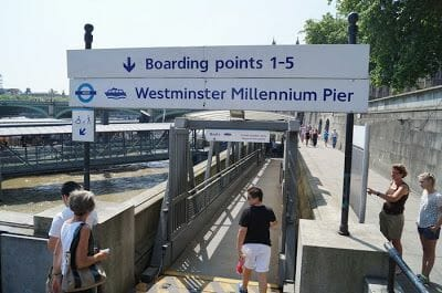 boarding points westminster millenium pier