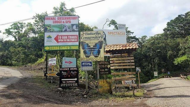 mirador del volcán Arenal dentro del Parque Naciona