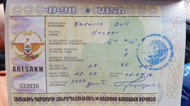 visado de Nagorno Karabaj