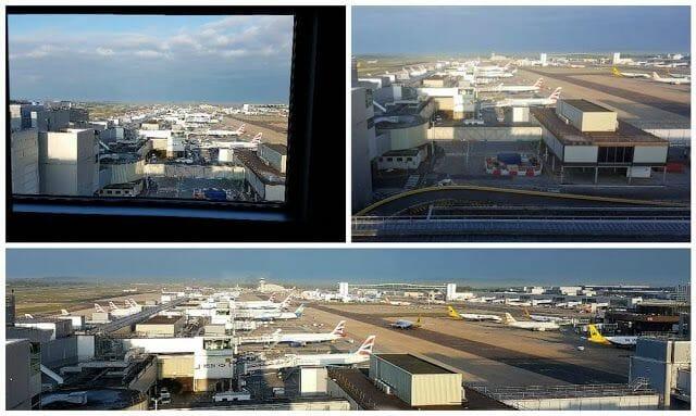 vista aviones pista desde bloc hotel gatwick