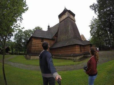 iglesias de madera en la ruta por Polonia