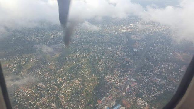 volando sobre Panamá