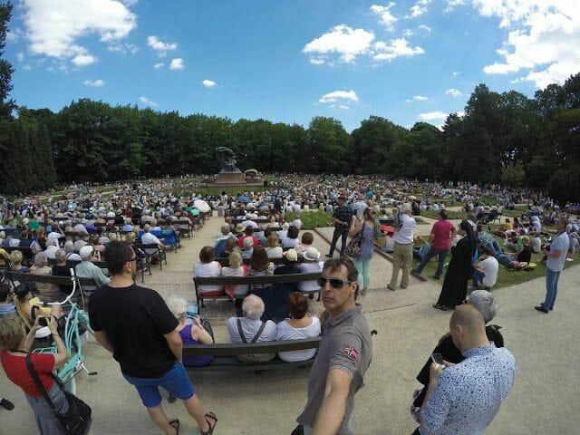 Parque Lazienki y concierto de Chopin