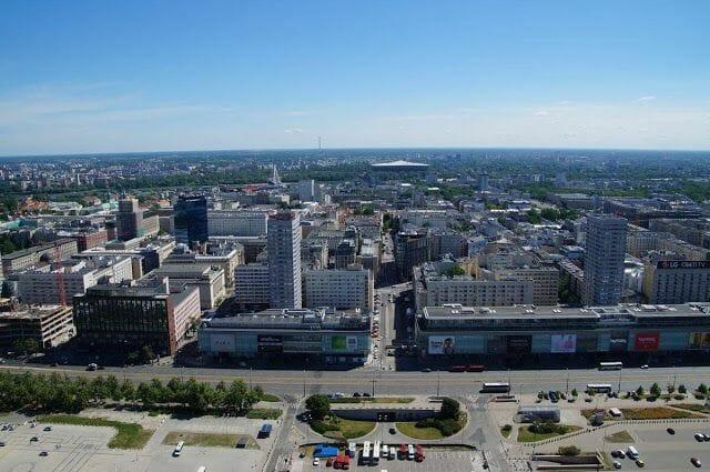 Varsovia desde las alturas