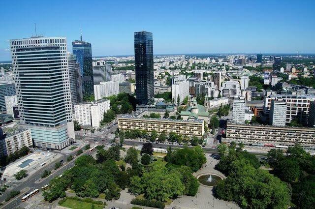 vistas desde el mirador - Palacio de la Cultura y la Ciencia Varsovia