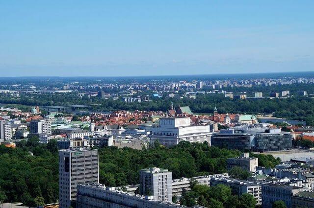 vista desde mirador planta 30 Palacio de la Cultura y Ciencia