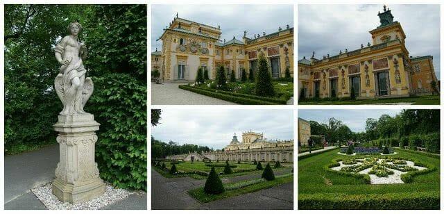 Palacio Wilanów Varsovia jardin