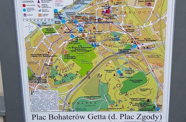 Gueto de Cracovia plano
