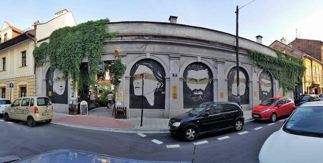 MURAL HISTÓRICO DE KAZIMIERZ barrio judío de Cracovia