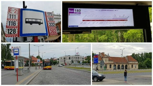 autobus 180 Palacio Wilanów Varsovia