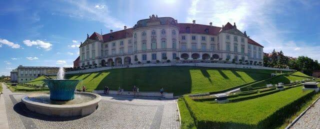 parte trasera Castillo Real Varsovia