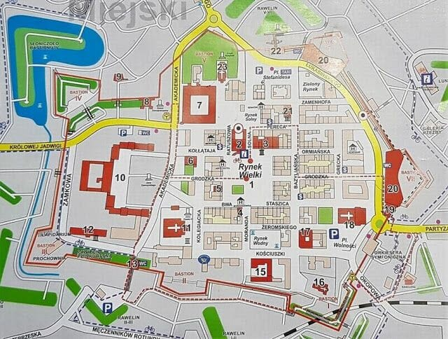 Mapa de Zamosc