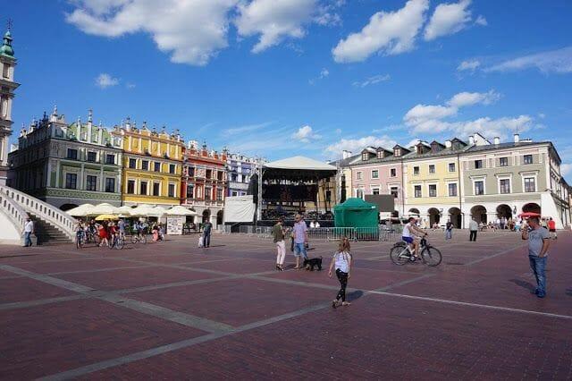 plaza principal de Zamosc