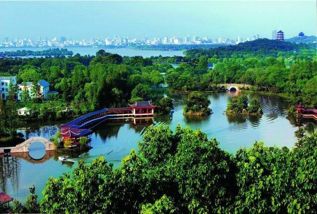 Lago del oeste Hangzhou China