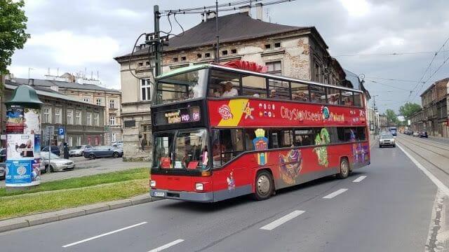 autobús turístico - Transporte público en Cracovia