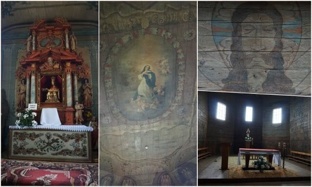 interior iglesia de Haczów - iglesias de madera de Polonia