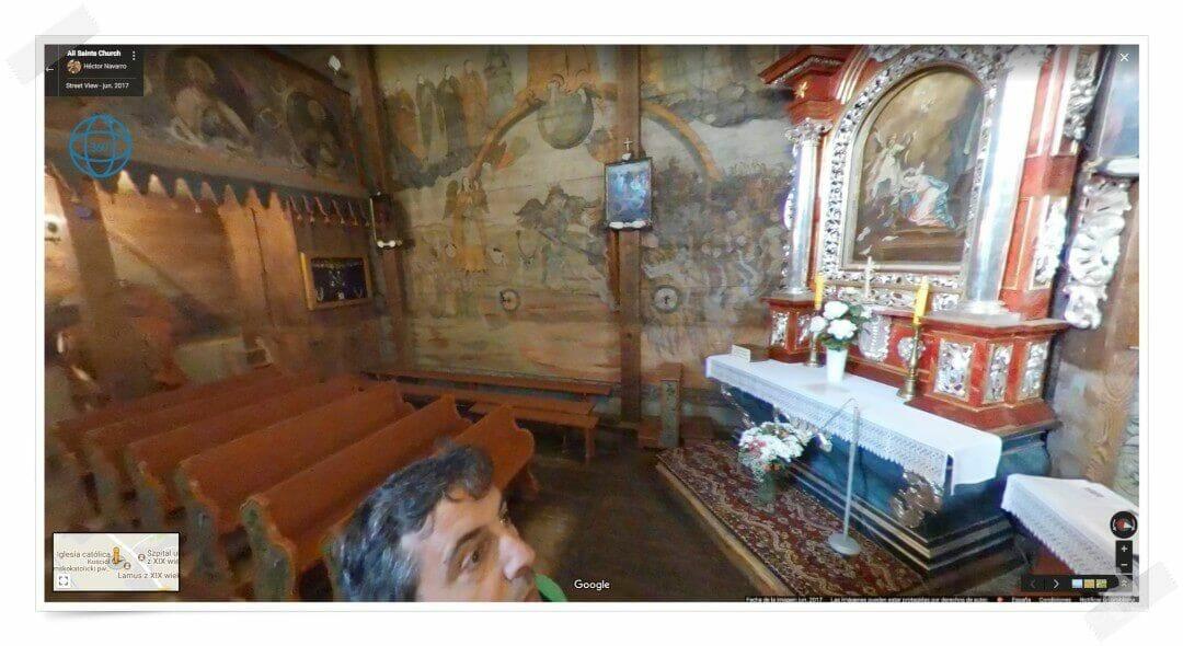 interior iglesia madera blizne