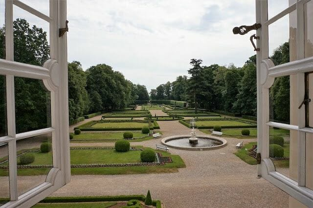 jardines palacio de Kozłówka