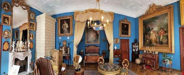 salon paredes azules
