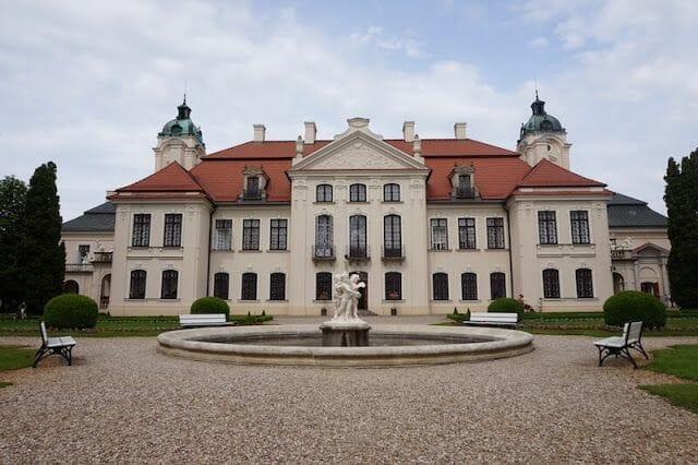 fachada trasera palacio de Kozłówka